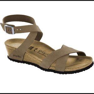 Birkenstock® Lola wedge sandal by Papillio, Sz 39